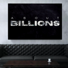 about billions quote black office canvas wall art