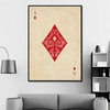 ace of diamonds canvas wall art