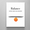 Balance Definition - Modern Stylish Motivational Canvas Wall Art