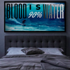 blood is 90% water quote surfer wall art
