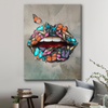 butterfly lips modern canvas wall art