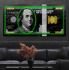 city lights green edition neon dollar wall art