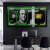 city lights green edition dollar wall art