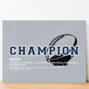 dallas cowboys themed motivational canvas wall art with the word champion and NOUN definition. iIncludes quote by Tom Landry.