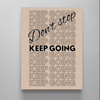 don't stop keep going motivational canvas wall art for women