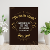 High quality Do not be afraid is written in the bible 365 times motivational canvas wall art for the office.