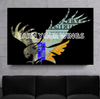 earn your wings eagle edition wall art for the office