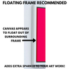 how a floating canvas makes your art stand out