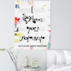 i love you forever in musical symbols wall art