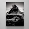 black and white mountain canvas wall art