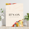 it's on time to make the magic happen motivational canvas wall art for the office in cream grunge effect.