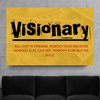 jay-z visionary quote motivational wall art in yellow