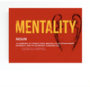 liverpool F.C vs barcelona themed canvas wall art with the word MENTALITY.