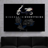 mindset is everything quote harley davidson motivational wall art