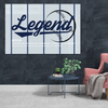 new york yankees motivational canvas wall art for the office with the word legend.