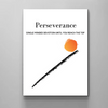 definition of perseverance motivational canvas wall art for women in white