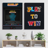 play to win quote poker canvas wall art