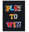 play to win poker wall art in black