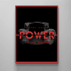 the definition of power motivational canvas wall art