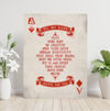 Poker card ace of diamonds motivational wall art with the words: success to do list.