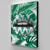tropical lips canvas wall art
