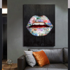world class taste lips canvas wall art