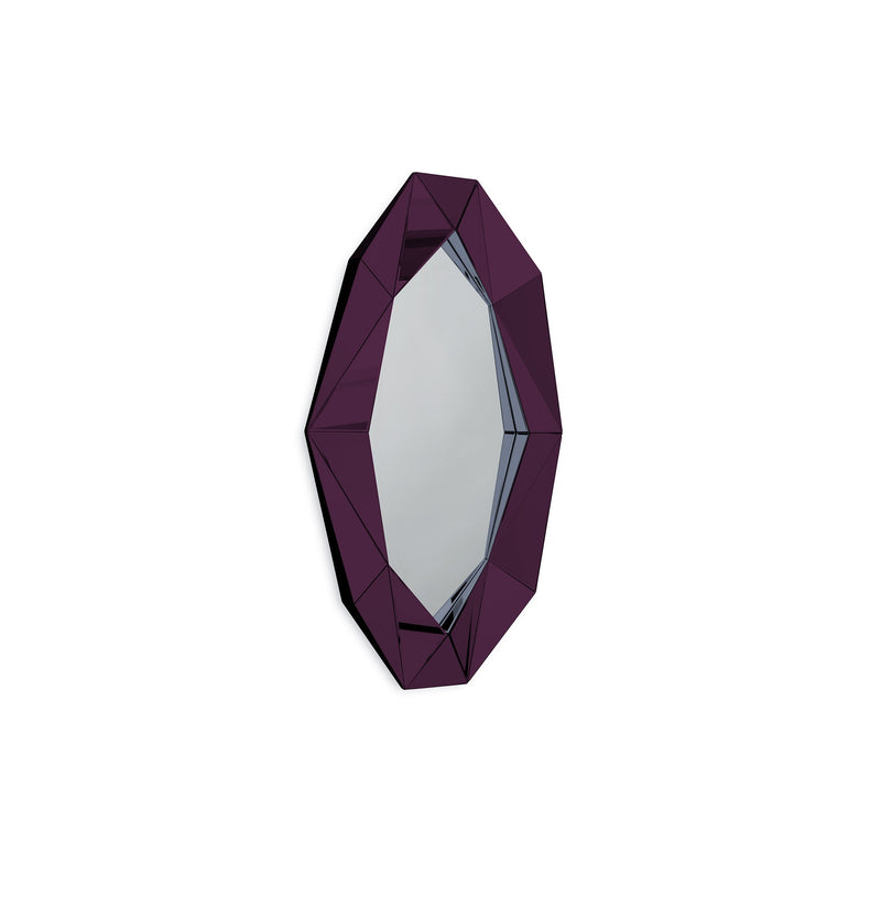 DIAMOND XL MIRROR BURGUNDY