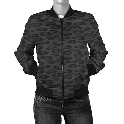 Black Leopard Bomber Jacket - Wildly Untamed