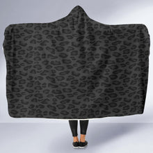 Load image into Gallery viewer, Black Leopard Hooded Blanket (2 Sizes) - Wildly Untamed