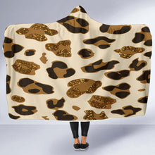 Load image into Gallery viewer, Bling Leopard Hooded Blanket (2 Sizes) - Wildly Untamed