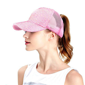 Blinging Time Ponytail Trucker Cap - Wildly Untamed