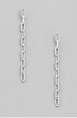 Chain Link Earrings (Silver) - Wildly Untamed