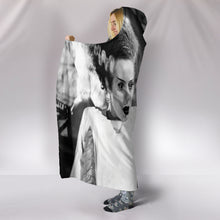 Load image into Gallery viewer, Frankenstein and Bride of Frankenstein Hooded Blanket (2 Sizes)