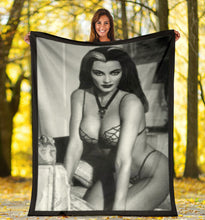Load image into Gallery viewer, Lily Munster in Webs Blanket