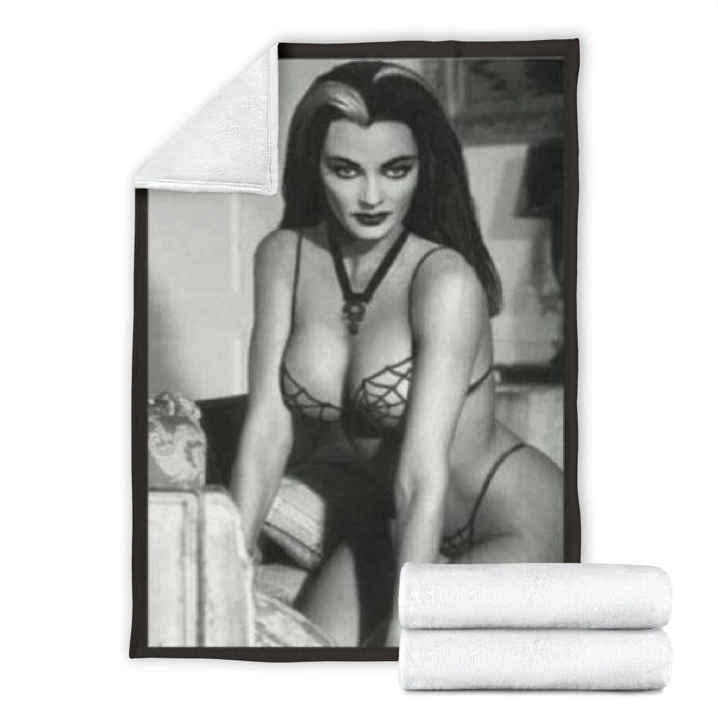 Lily Munster in Webs Blanket