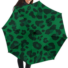 Load image into Gallery viewer, Green Leopard Umbrella - Wildly Untamed