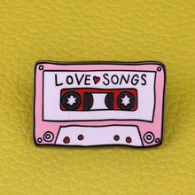 Load image into Gallery viewer, Love Songs Cassette Tape Enamel Pin - Wildly Untamed