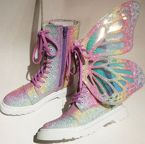 Butterflies Sneakers Lace Up
