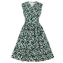 Load image into Gallery viewer, Sandy's Flower Print Vintage Dresses