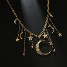 Load image into Gallery viewer, Gypsy Crystal Moon and Stars Necklaces
