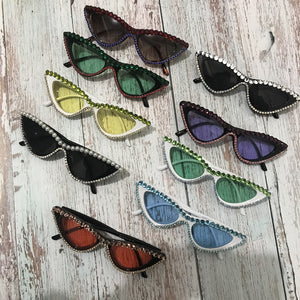 Cat Eye Rhinestone Sunglasses