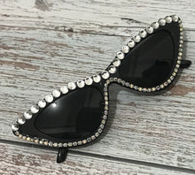 Load image into Gallery viewer, Cat Eye Rhinestone Sunglasses