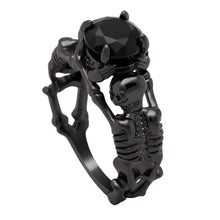 Load image into Gallery viewer, Till Death Do Us Part Skull Ring