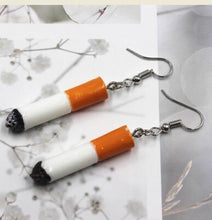 Load image into Gallery viewer, Retro Cigarette Earrings and Key-chain - Wildly Untamed