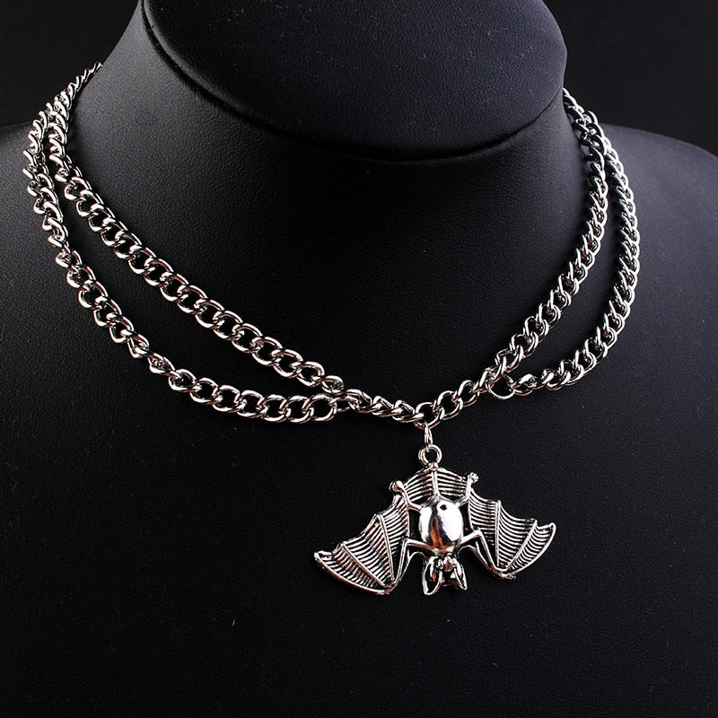 Goth Bat Necklace