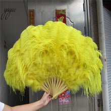 Load image into Gallery viewer, Glam Queen Ostrich Feather Fan