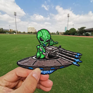 Mars Attacks and UFO Iron-On Patches