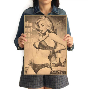 The Not So Pure Girl Retro Poster - Wildly Untamed