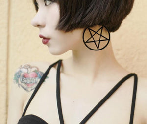 Pentagram Dangling Earrings