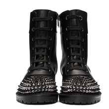Load image into Gallery viewer, Spiked Matte Leather Boots